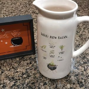 Rae Dunn Halloween witches brew recipe pitcher